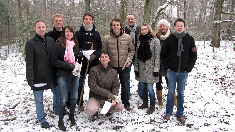 klootschietbikkels in de sneeuw